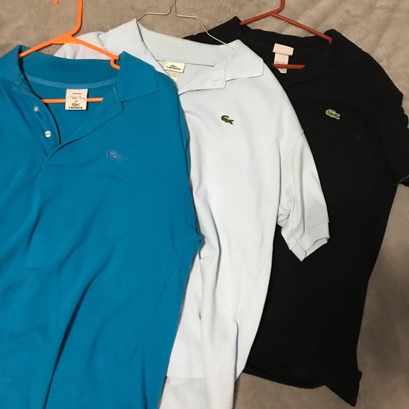 ffab49b54914 2  15 Lacoste shirts 3 pack. M 5b70d650cdc7f71c33e2b942
